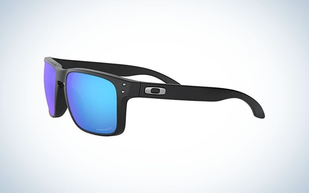 Matte Black polarized square sunglasses