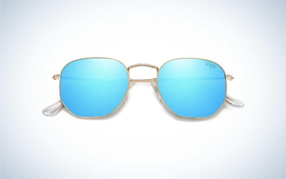 Small Square Polarized Sunglasses for Men and Women