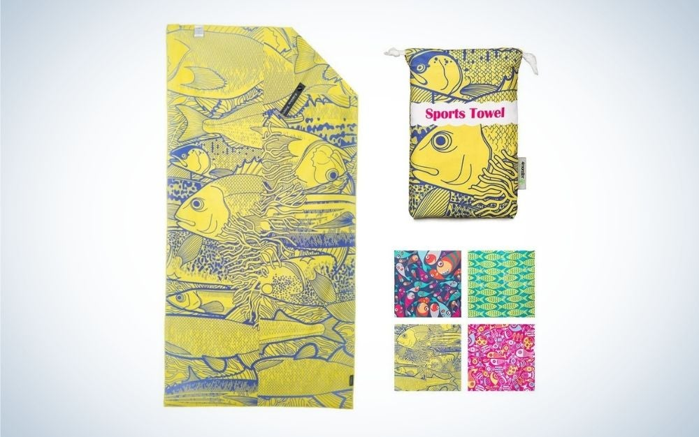 Yellow and soft beach towels