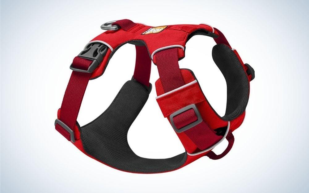 Red front range dog harness