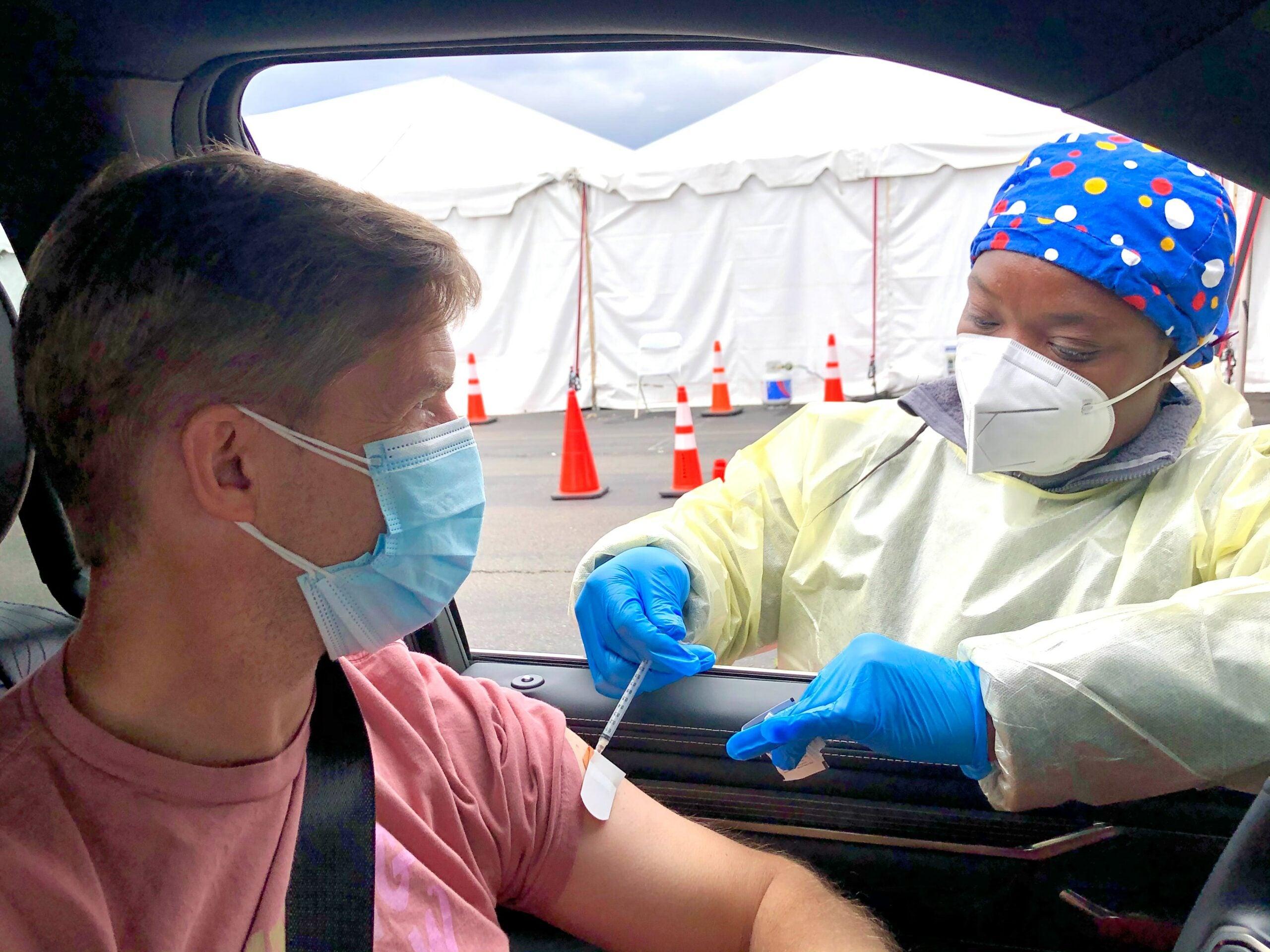 person getting a vaccine