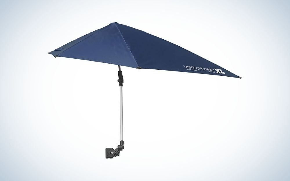 Midnight blue adjustable beach umbrella