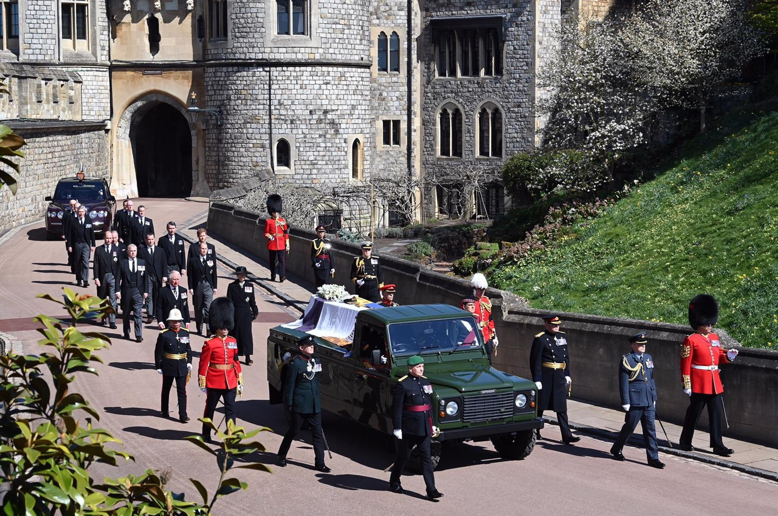 Prince Phillip funeral procession at Windsor Castle