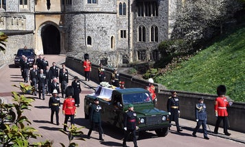 Prince Philip's hearse was a 'very British SUV,' designed by the royal himself