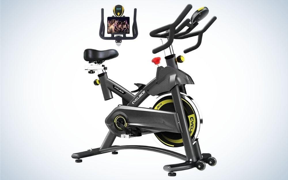 Black exercise stationary bike for entry level