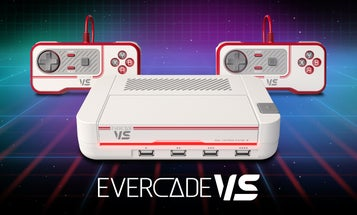 The Evercade VS console plays vintage video games on modern cartridges