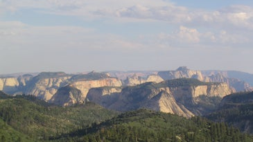 The view of Zion National Park from Lava Point.