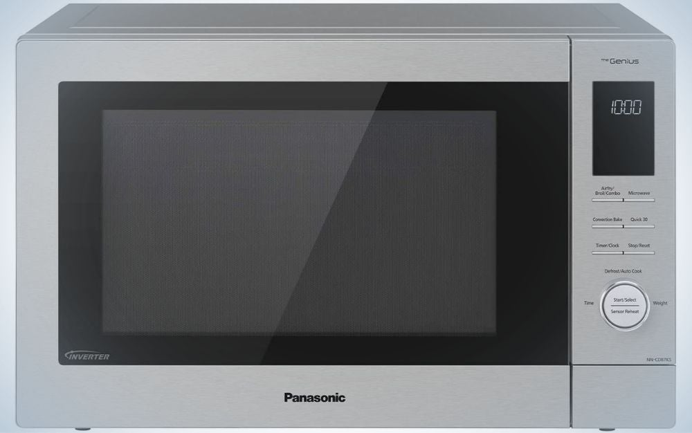 A grey Panasonic microwave as a gift for mom