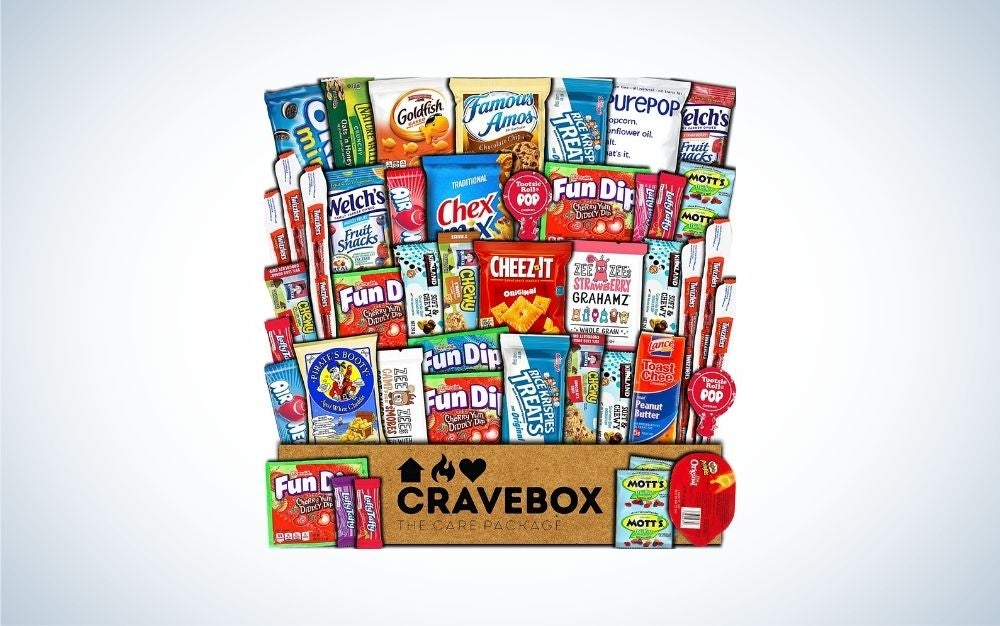 CRAVEBOX with different food snacks packages graduation gift for him