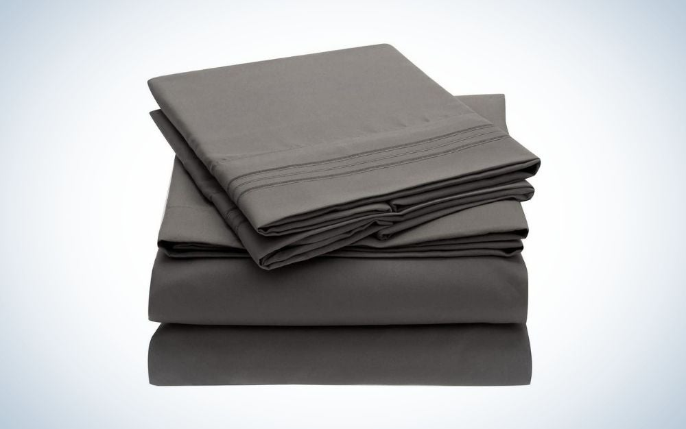 4 pieces gray bed sheets graduation gift for him