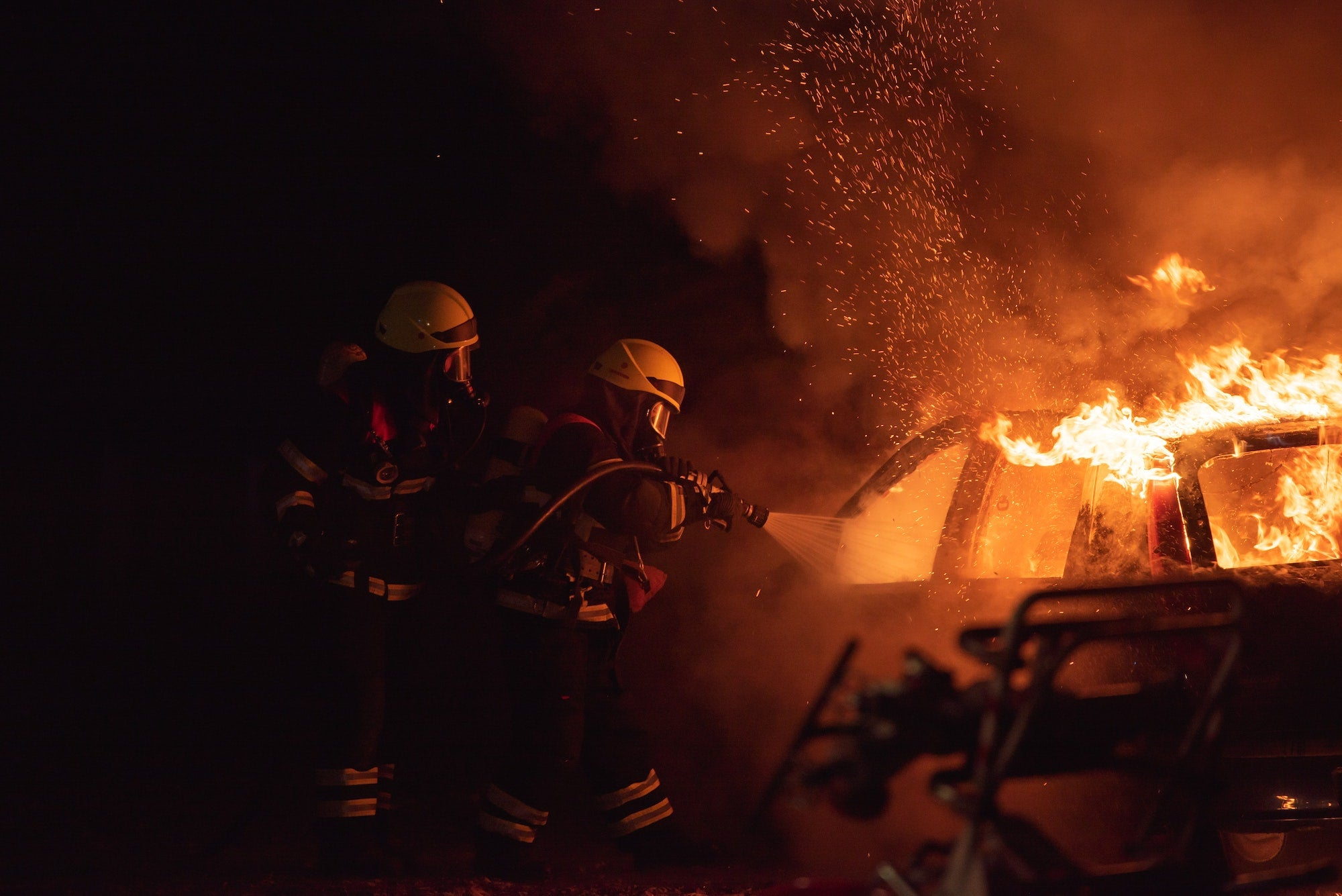 Electric vehicle fires are rare, but challenging to extinguish
