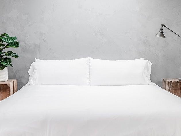 Pure Bamboo Soft White 4-Piece Sheet Set