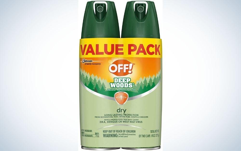 DEET OFF spray insect repellent