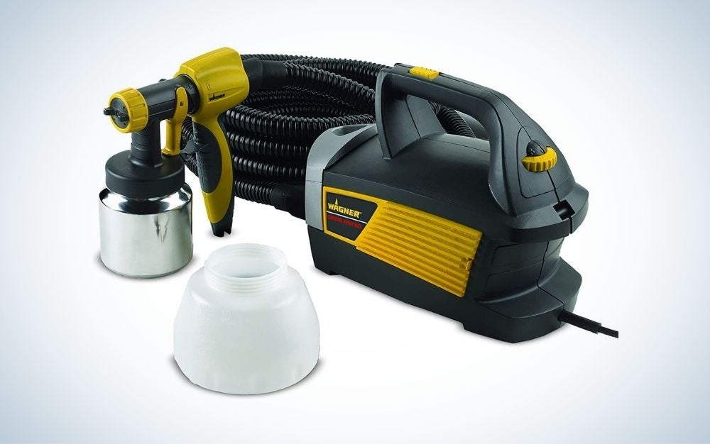 Paint spray gun for furniture and extra container