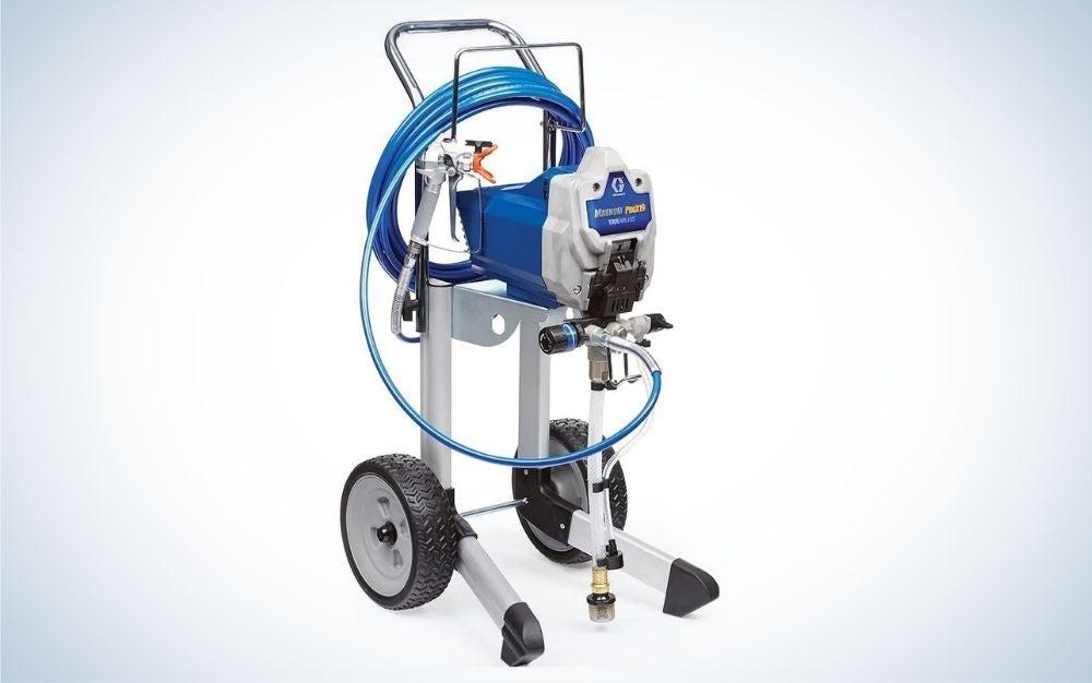 Blue, magnum paint spray gun