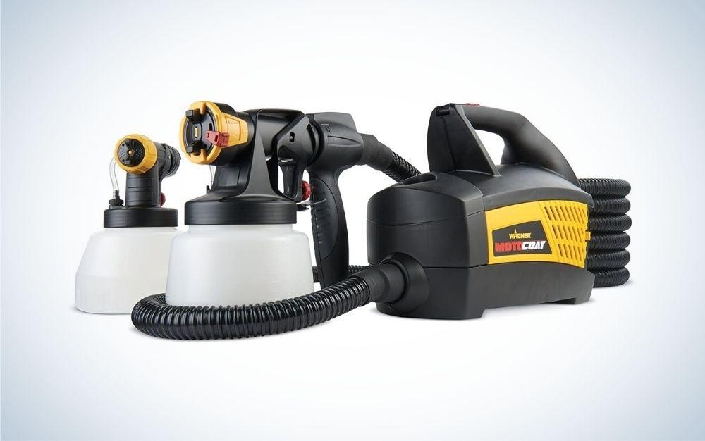 Black paint spray gun for cars