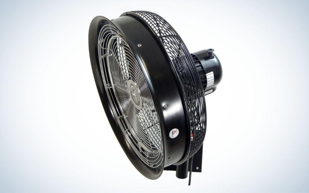 Black stainless steel outdoor misting fan