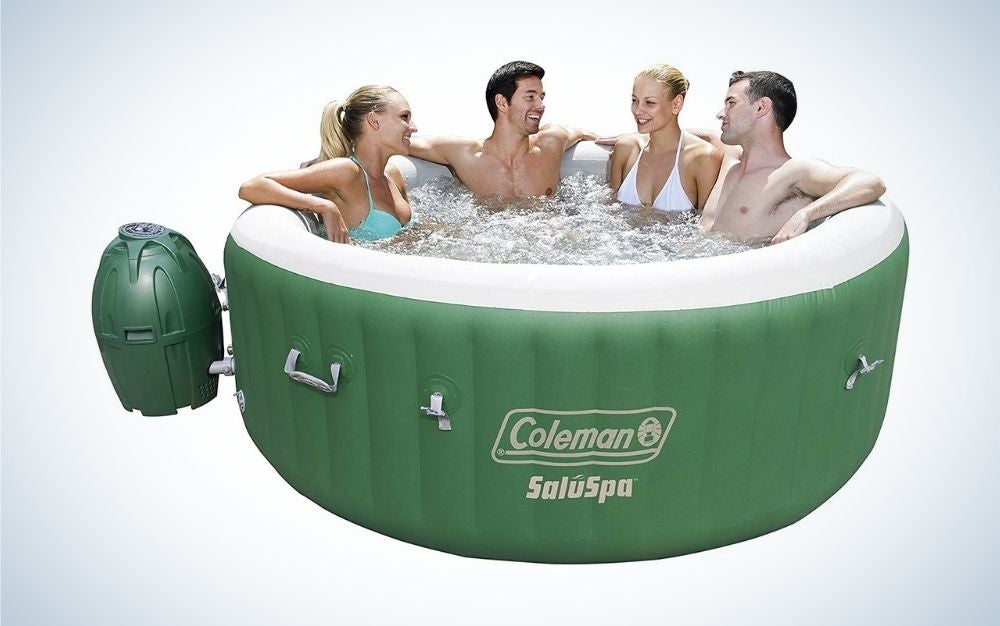 Green and white inflatable hot tub mother's day gift