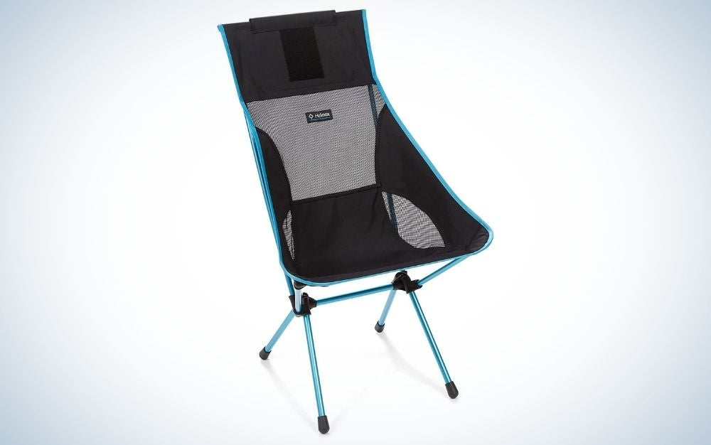 Black beach and camping chair