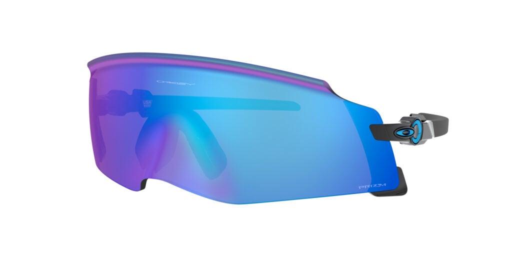 Oakley Kato sunglasses with blue lenses on white