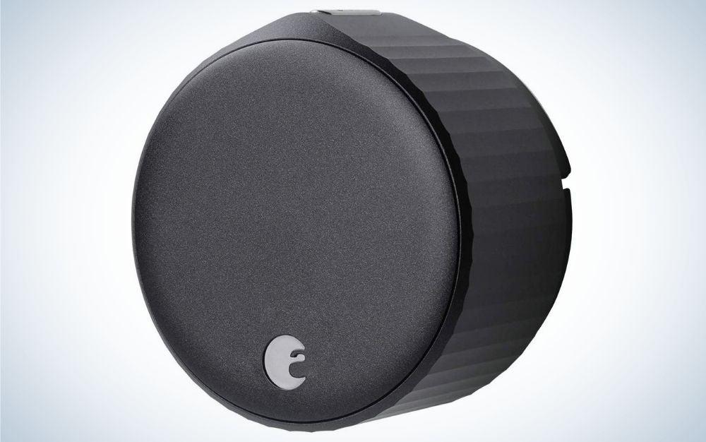 Round, black, Wi-Fi smart lock
