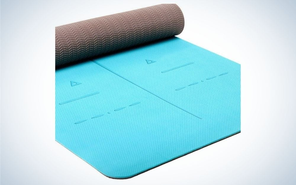 Turquoise, eco friendly yoga mat