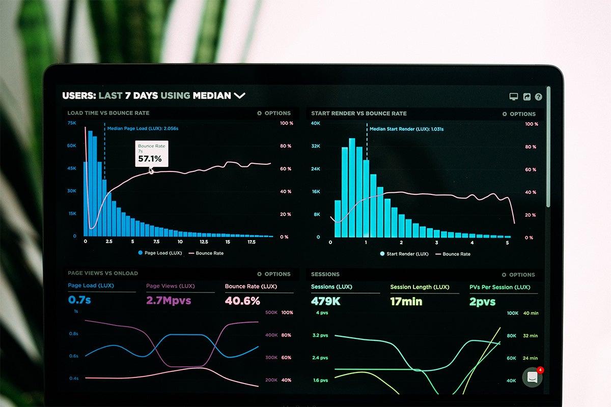 Screen showing SEO metrics