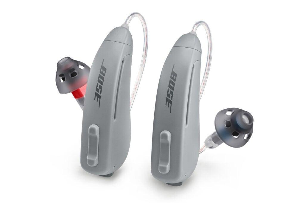 Bose SoundControl hearing aids on white