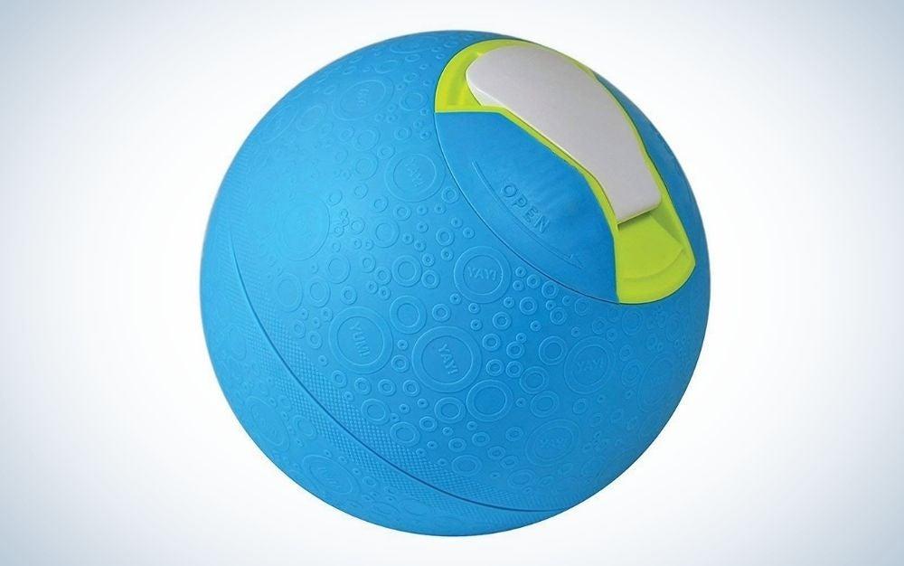 Blue ice cream maker for kids in a ball shape