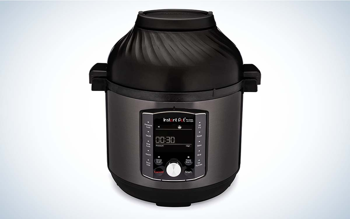 The Instant Pot Pro Crisp 11-in-1 Electric Pressure Cooker is the best air fryer combo.