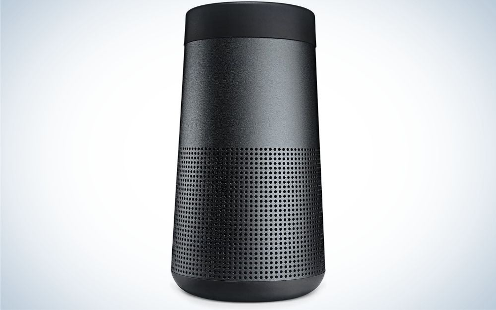 A box without a plug in the shape of a cylinder and all black.