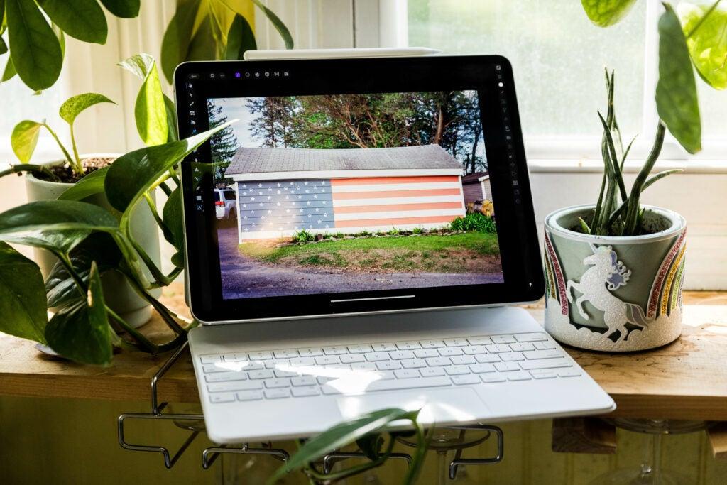 iPad Pro 12.9 inch in the Magic Keyboard Case