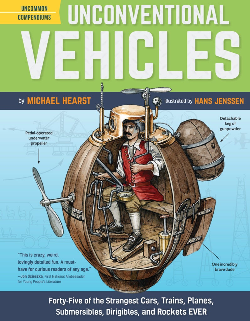 Cover of Unconventional Vehicles by Michael Hearst, illustrated by Hans Jenssen