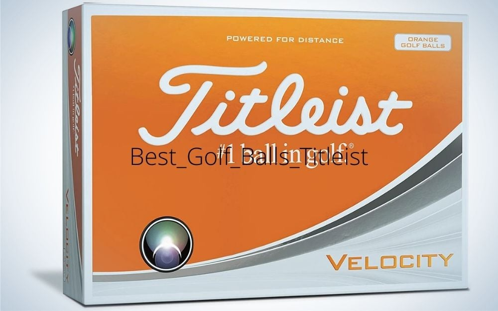A box with orange and grey color written Titleist best golf ball.