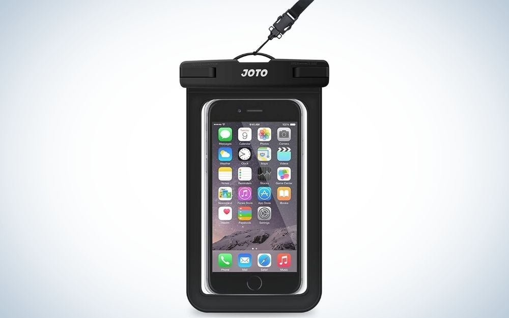 Black universal waterproof phone bag case gift for grads who love water