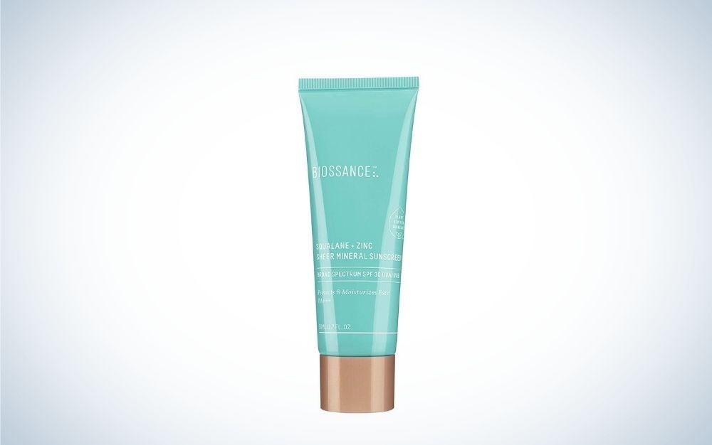 Biossance squalane zinc sunscreen for face