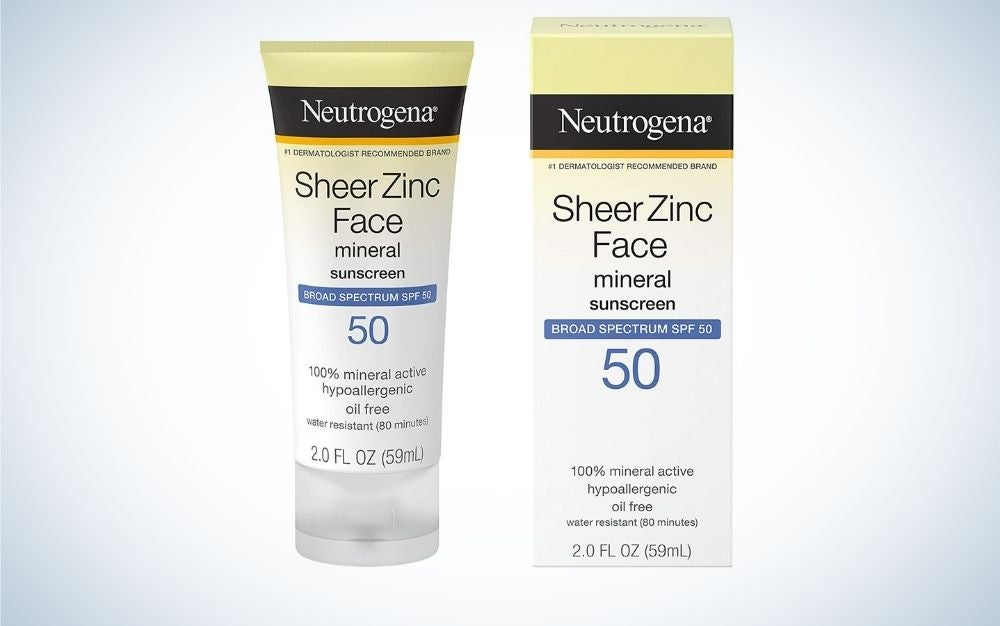 Neutrogena sheer mineral sunscreen is some of the best drugstore sunscreen for race
