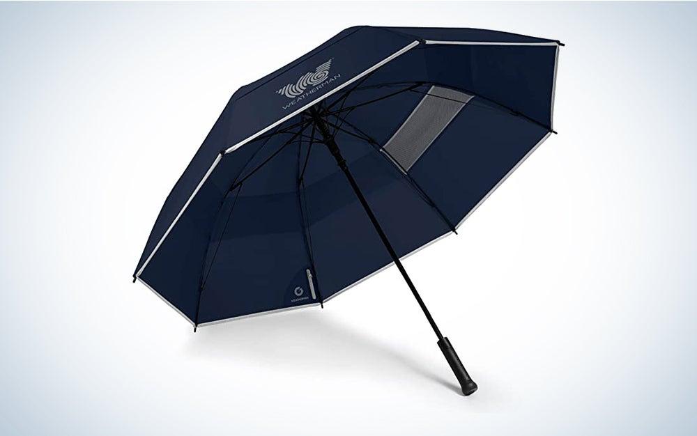 blue weatherman umbrella