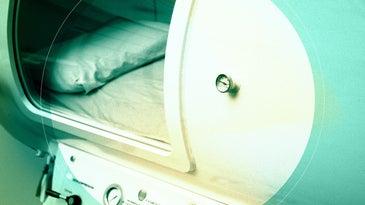 a hyperbaric chamber