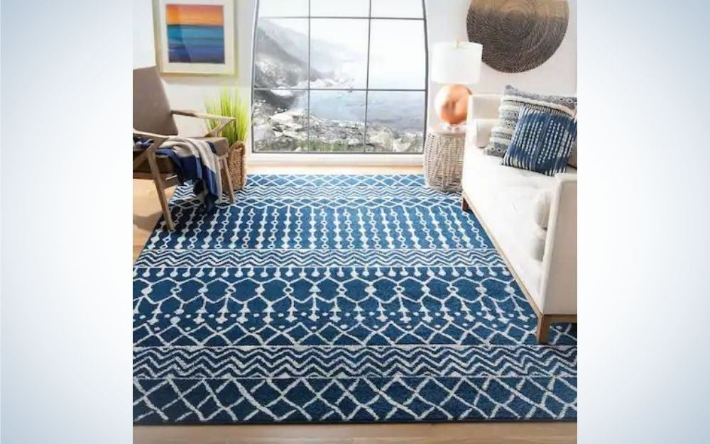 Blue carpet for Memorial Day sales from Overstock