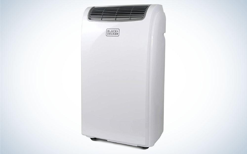 White portable air conditioner