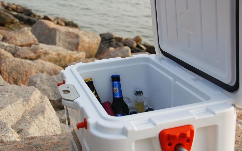 The best cooler keeping drinks cold on a hot, sunny day.