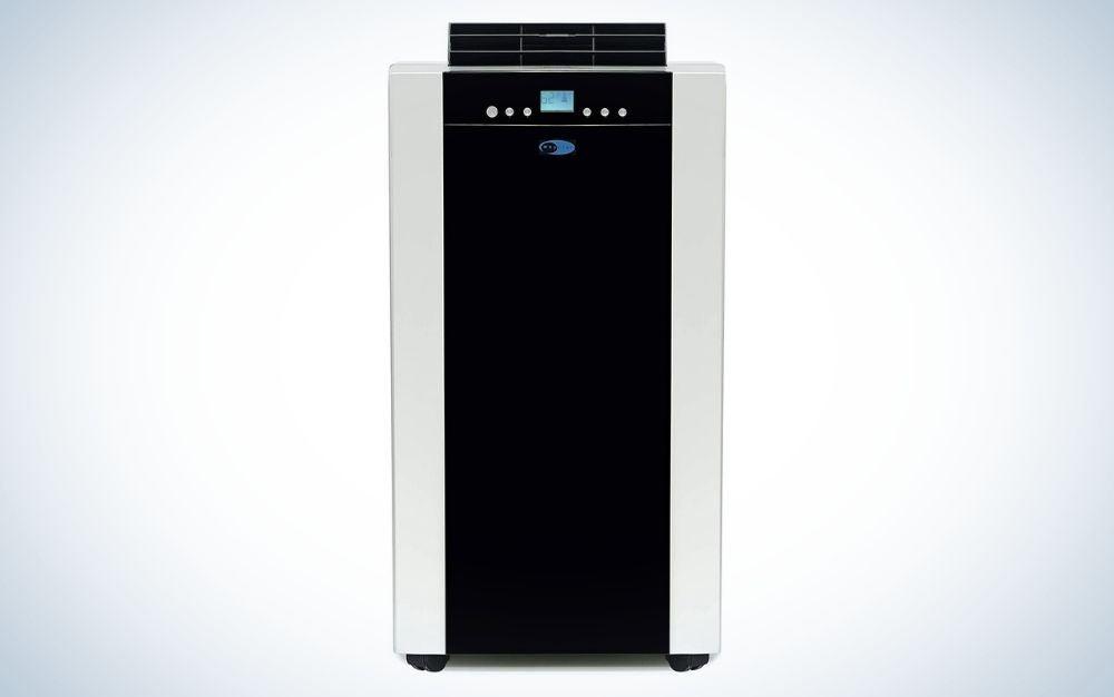 Platinum and black portable air conditioner