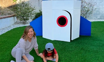 Turn your old boxes into a kid-sized rocket ship
