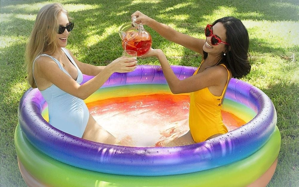 Rainbow inflatable pool for 2 people