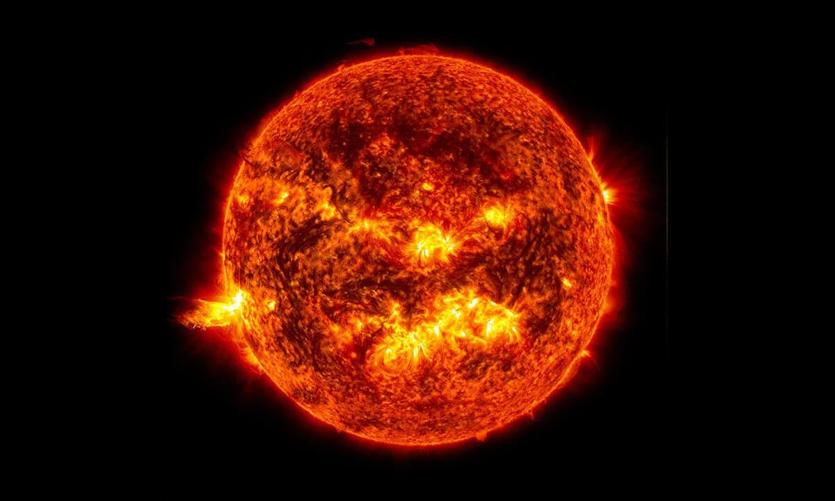 a photograph of the sun