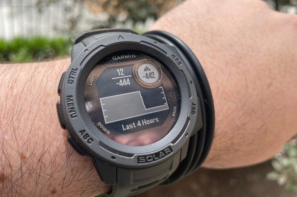 Garmin Instinct Solar smartwatch in the wild
