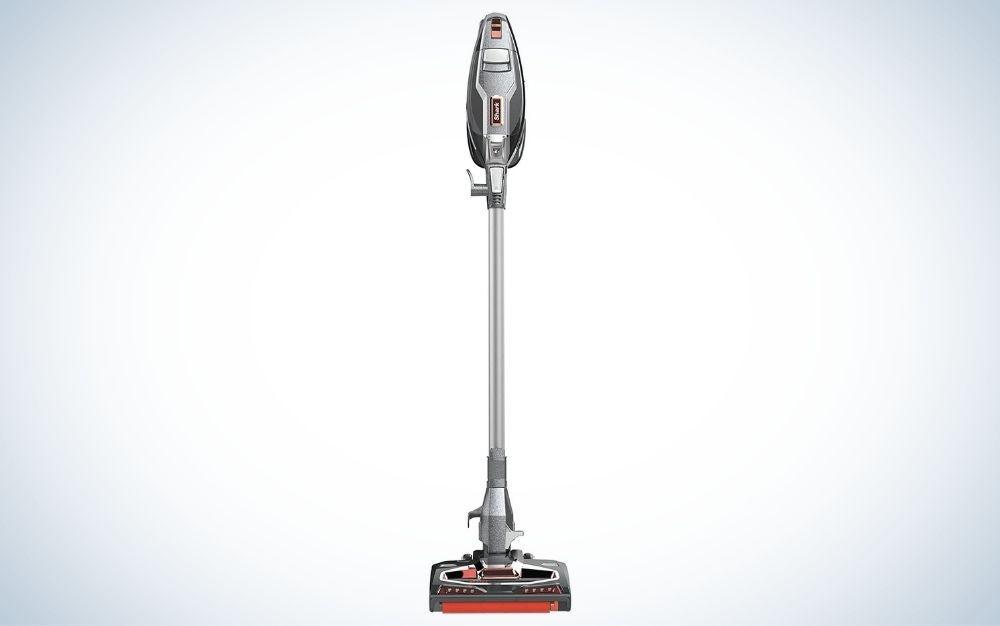 Charcoal, electric corded vacuum for hardwood floors