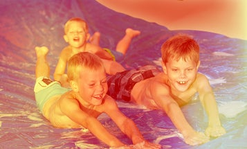 Beat the heat by building your own slip and slide
