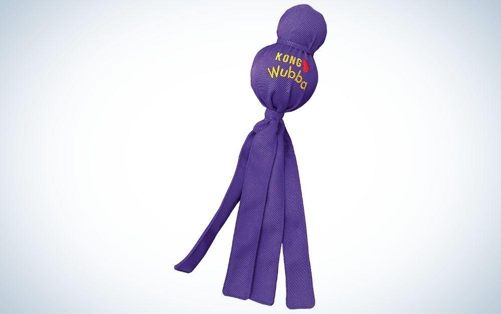 Purple Kong tug of war dog toy